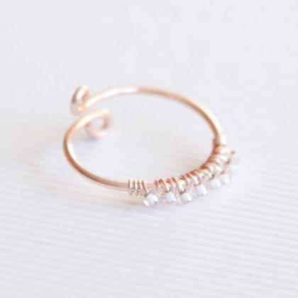 Rose Gold Ring, Dainty Ring, Midi R..