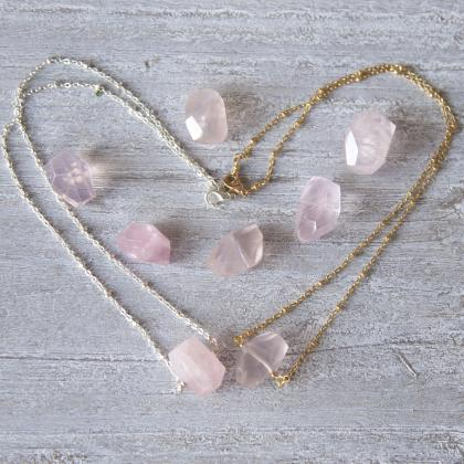 Rose Quartz Necklace Crystal Jewelr..