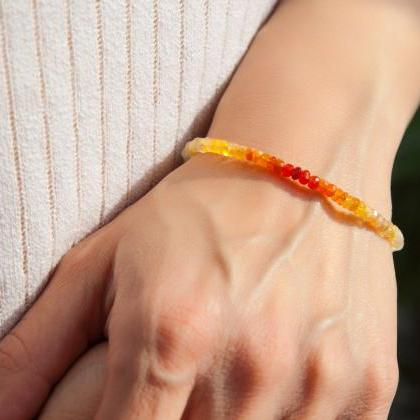 Genuine Fire Opal Bracelet, October..