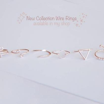 Dainty Ring, Rose Gold Ring, Tiny R..