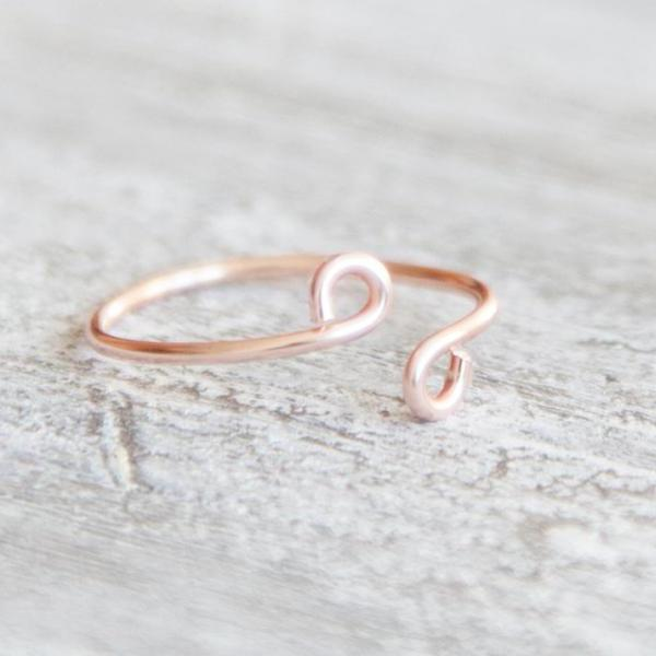 Minimalist Adjustable Rose Gold Ring